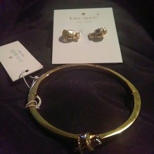 Kate spade set of earrings and bracelet new