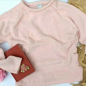 Light Pink Thick Chenille Sweater