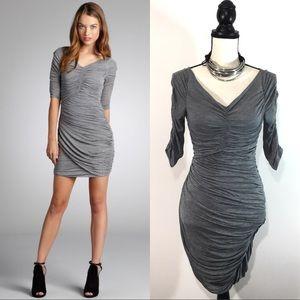 🏳 BCBGMAXAZRIA Ruched Timona Stretch Jersey Dress