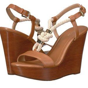 Michael Kors Holly Wedge heels NWT sz 8
