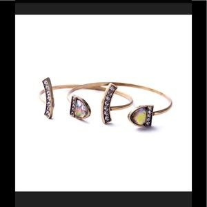 NWT Lunette open cuff bracelet set