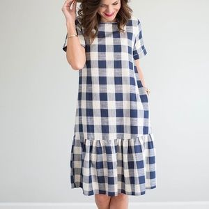 Dresses & Skirts - Gingham Ruffle Hem Dress