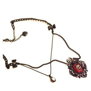 Betsy Johnson gothic Victorian necklace