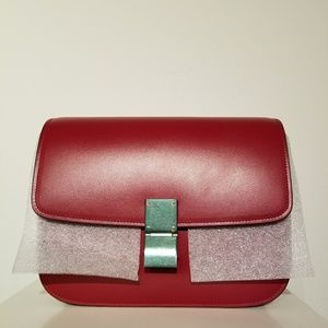 Celine Classic Box Leather Red NET