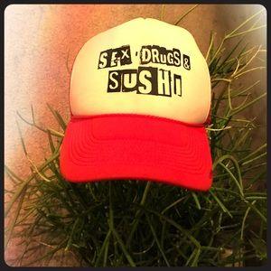 Sex drug & sushi hat
