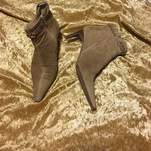 COACH Laurie Suede Leather Boots ankle 5.5B zipper