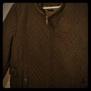 Cato Woman 22/24 Plus quilted black coat