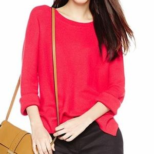 Joie Mosselle Waffle Stitch Knit Sweater in Red XS