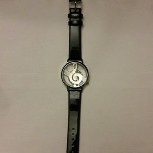 Accessories - Musical Note Watch Silver Glass New