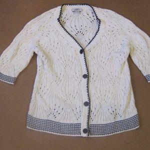 Ann Taylor Chunky Knit Sweater Jacket Cardigan