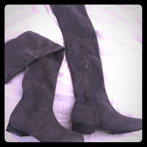 Brand new gray over the knee new boots!