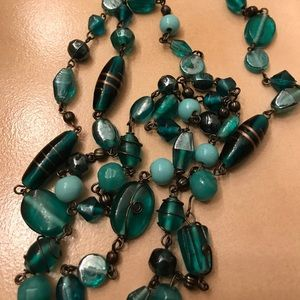 Teal Green necklace