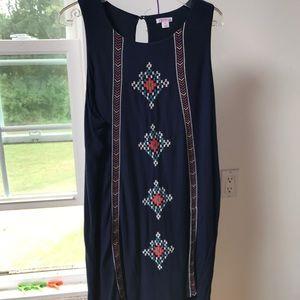 Xhilaration Sleeveless Navy Blue Dress XXL