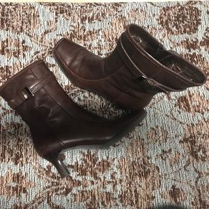 Kenneth Cole Reaction, brown leather boots