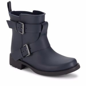 Gentle Souls Best Fun Navy Rain Boots 9  Brand New