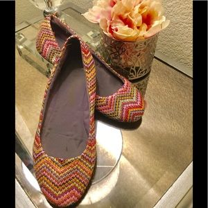 Report multi color ballet flats Missoni style