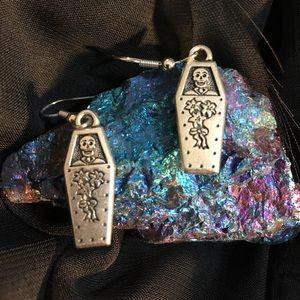 Handmade Day of the Dead Pierced Earrings