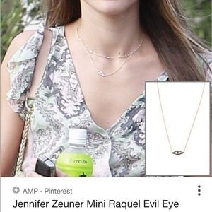Jennifer Zeuner Mini Evil Eye Necklace