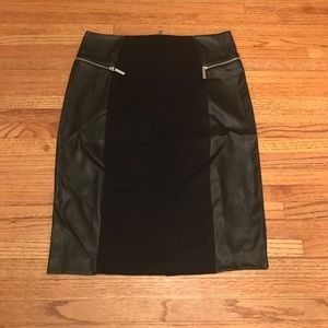 10 Michael Kors Faux leather detail skirt