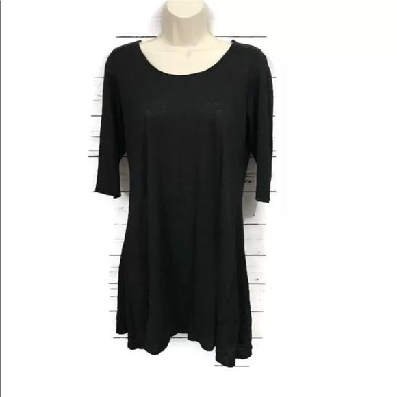 aff08a82044 Eileen Fisher Scoop Neck Linen Tunic Dress XS
