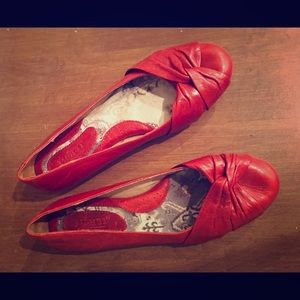 Born Red Leather Flats