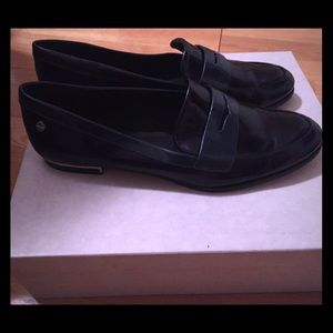 Navy Calvin Klein penny loafers. Size 9