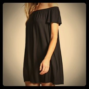 Off the Shoulder Shift Dress