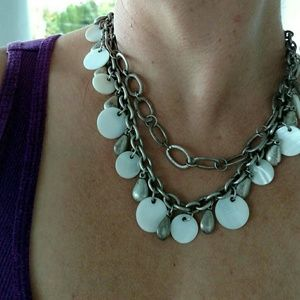 Premier Designs WHITE LINEN necklace