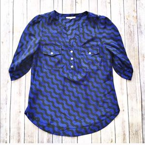 Stitch Fix 41 Hawthorn printed popover blouse