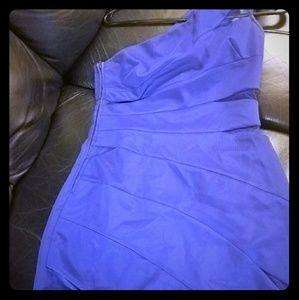 Purple adrianna papell cocktail dress