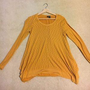 Free People Mustard Yellow Long Sleeves Shirt