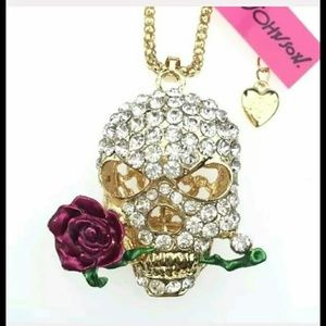 Betsy Johnson Necklace Skull Collection
