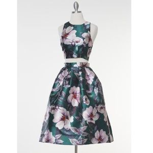 Royale Floral Crop Top and Midi Skirt Set