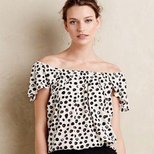 Maeve polka dot off the shoulder top