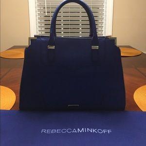 Cobalt blue Rebecca Minkoff satchel