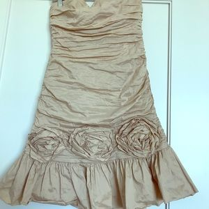 BCBG cream formal dress