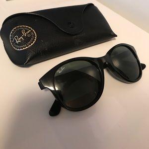 💕HP💕Ray Ban rb4203 Round Black Sunglasses