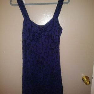 Free People Piasley blue and black dress