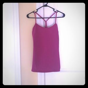 Lululemon power Y tank size 6 pink