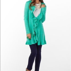 Lilly Pulitzer cashmere knitted long cardigan