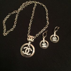 CoCo Chanel Like Necklace Earring Set