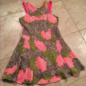 Brown and pink strappy sundress