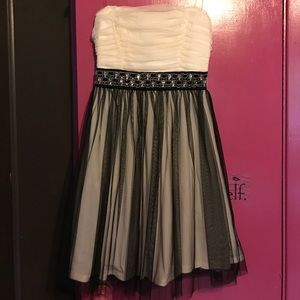 Black and white tulle Mystic cocktail dress
