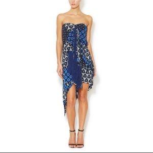 BCBG Max Azria Enid Silk Fringe Dress