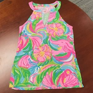 Lilly Pulitzer Bright Colorful Arya Tank Top Sz XS