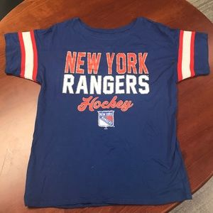 NWOT New York Rangers Blue Short Sleeve Shirt Sz S