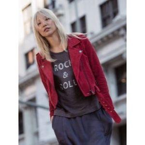 Blank NYC Olive Juice Suede Moto Jacket