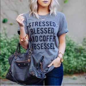 Stressed Blessed & Coffee Obsessed Tee