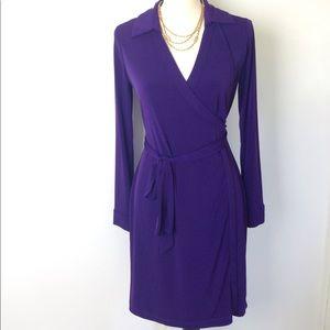 Pretty Purple Calvin Klein Wrap Dress