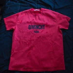 Givenchy Colombian Fit Distressed Tee